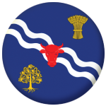 Oxfordshire County Flag 58mm Button Badge